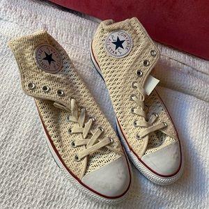 Cream Lace Converse